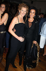 Left to right, KELLY HOPPEN and NANCY DELL'OLIO at a party to celebrate the publication of Style by interior designer Kelly Hoppen held at 50 Cheyne Walk, London on 10th November 2004.<br />