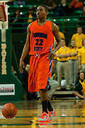 WACO, TX - JANUARY 3: Terel Hall #22 of the Savannah State Tigers brings the ball up court against the Baylor Bears on January 3, 2014 at the Ferrell Center in Waco, Texas.  (Photo by Cooper Neill) *** Local Caption *** Terel Hall