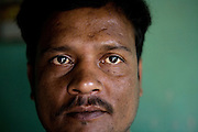 Shafiq Syed, 34, is portrayed inside his home in Bangalore, Karnataka, India. Shaifq has been the main character of the Cannes' Camera D'Or 1988 winner Salaam Bombay, but after the movie he failed to become a star, fell back into poverty and lived on the streets for years before he became a rickshaw (tuk-tuk) driver in his home city of Bangalore, Karnataka State, India.