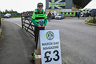 FGR programme seller during the EFL Sky Bet League 2 match between Forest Green Rovers and Exeter City at the New Lawn, Forest Green, United Kingdom on 4 May 2019.