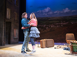 Rita, Sue and Bob Too<br /> By Andrea Dunbar<br /> at The Royal Court Theatre, London, Great Britain <br /> Press photocall <br /> 11Pm h January 2018 <br /> <br /> Directed by Kate Wasserberg <br /> <br /> James Atherton as Bob <br /> Gemma Dobson as Sue <br /> <br /> <br /> Photograph by Elliott Franks
