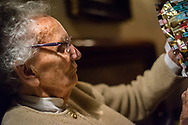 Close up of a female pensioner aged 97