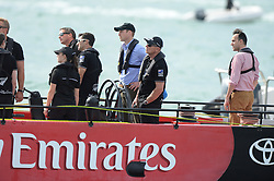 The Duke and Duchess of Cambridge take a trip around Auckland Harbour, New Zealand, on board the Emirates Team New Zealand Americas cup yacht on day 5 of their Royal Tour of New Zealand and Australia,  Friday, 11th April 2014. Picture by Andrew Parsons / i