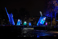 LYON, FRANCE - DECEMBER 04: For four nights over 70 light installations will create a magical atmosphere in the streets, squares and parks all over the city and millions of visitors both French and from abroad will enjoy the friendly and joyful spirit of this unique event on December 4, 2014 in Lyon, France. (Photo by Bruno Vigneron/Getty Images)<br /> Pocket Lights<br /> Place Maréchal Lyautey , Lyon 6<br /> Artist<br /> TILT<br /> At the end of Morand Bridge, high over Place Lyautey, you will find a giant version of ever-enduring pocket lights. With their vintage colors, they illuminate different points of space with multiple shades, creating a joyful, warm atmosphere. Give in to sweet nostalgia while you contemplate these dozen pocket lights as they turn on, blink and change color, seeming to converse with each other.<br /> <br /> Opening hours<br /> Friday 5th and Saturday 6th: from 6 p.m to 1 a.m<br /> Sunday 7th: from 5:30 p.m to midnight<br /> Monday 8th: from 6 p.m to midnight<br /> Metro Line A - Foch stop or go to Place Lyautey from Place Louis Pradel by crossing the Morand Bridge