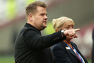 The Late Late Talk Show host  and comedian James Cordon visiting London Stadium is pictured before k/o. Premier league match, West Ham Utd v Hull city at the London Stadium, Queen Elizabeth Olympic Park in London on Saturday 17th December 2016.<br /> pic by John Patrick Fletcher, Andrew Orchard sports photography.