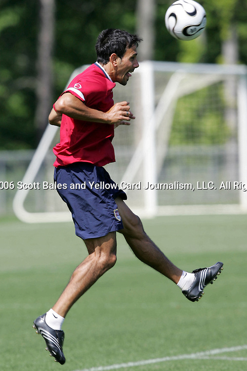 16 May 2006: Midfielder Pablo Mastroeni. The United States' Men's National Team trained at SAS Soccer Park in Cary, NC, in preparation for the 2006 World Cup tournament to be played in Germany from June 9 through July 9, 2006.