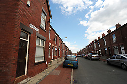 Terraced housing in Bolton, Yorkshire UK