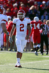 15 October 2011: Dante Warren during an NCAA football game between the University of South Dakota Coyotes and the Illinois State Redbirds (ISU) at Hancock Stadium in Normal Illinois.