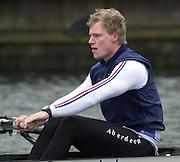 Henley. England, GB Rowing crews training on Henley Reach.<br /> Photo Peter Spurrier.<br /> 11/03/2004 - British International Rowing -<br /> GBR M2- stroke Rick Dunn.   [Mandatory Credit. Peter SPURRIER/Intersport Images]