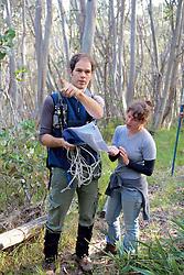 Sam & Felicia Checking Trail Maps