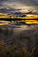 Knapps Loch just after sunset. Near Kilmacolm, Inverclyde.
