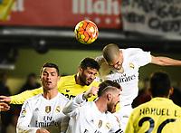 Villarreal CF's Musacchio and Real Madrid's Cristiano Ronaldo, Sergio Ramos and Pepe during La Liga match. December 13, 2015. (ALTERPHOTOS/Javier Comos)