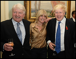 Oct. 22, 2014 - London, England, United Kingdom - 22/10/2014. London, United Kingdom. L to R Stanley, Rachel, Boris Johnson at Boris's book launch - The Churchill Factor at The English Speaking Union, Dartmouth House, London..  (Credit Image: © Andrew Parsons/i-Images/ZUMA Wire)
