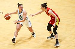 Aleksandra Kroselj of Slovenia during friendly basketball match between Women National Teams of Slovenia and Montenegro, on May 21, 2021 in Arena Tri Lilije, Lasko, Slovenia. Photo by Vid Ponikvar / Sportida