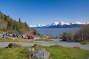 HcHugh Creek Recreation Area in the Chugach National Forest. Trails offer a great view over Turnagain Arm and the Chugach mountains.