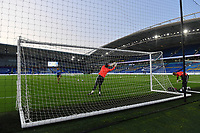 Football - 2020 / 2021 EFL Cup - Round Two - Brighton & Hove Albion vs Portsmouth<br /> <br /> Brighton & Hove Albion goalkeepers during the pre-match warm-up, at the Amex Stadium.<br /> <br /> COLORSPORT/ASHLEY WESTERN