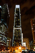 The Comcast Center is seen at night from 19th Street in Philadelphia, Pennsylvania on May 27th 2012. (Photo by Brian Garfinkel)