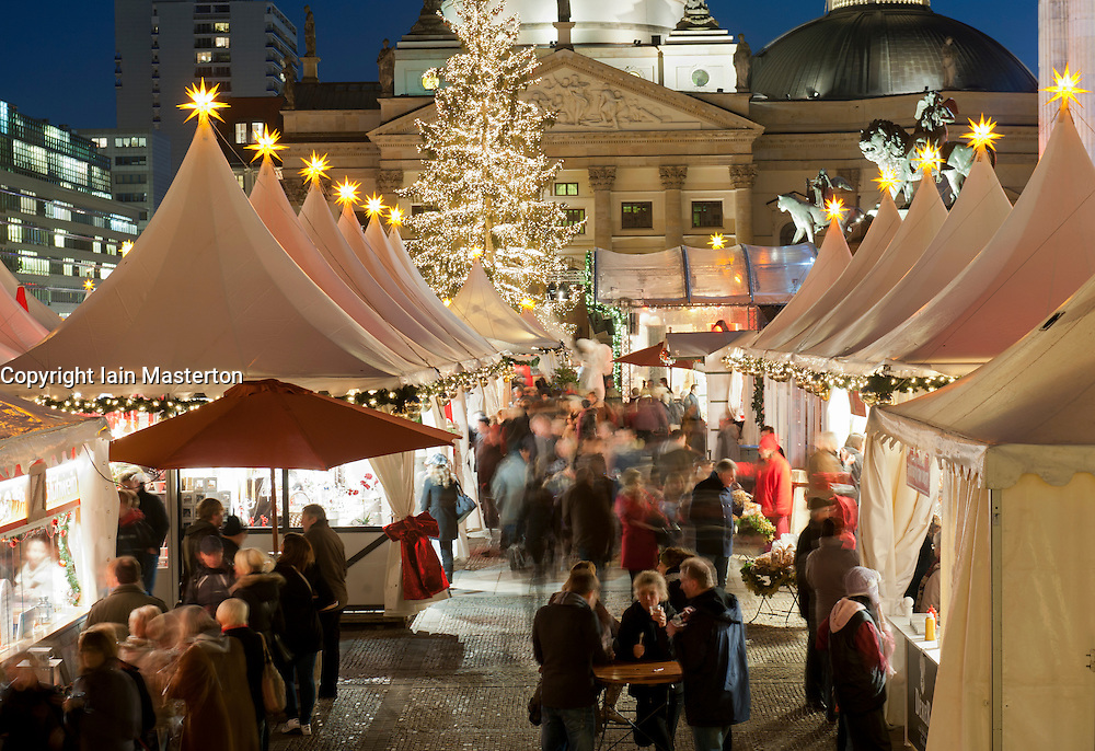Traditional Christmas market at Gendarmenmarkt in Berlin Germany 2011