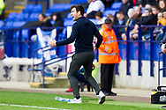 Rochdale manager Brian Barry-Murphy celebrating Fabio Tavares goal  during the EFL Sky Bet League 1 match between Bolton Wanderers and Rochdale at the University of  Bolton Stadium, Bolton, England on 19 October 2019.