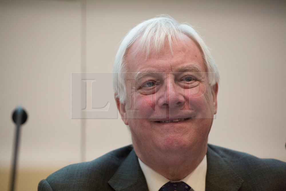 © licensed to London News Pictures. London, UK 26/11/2012. Lord Chris Patten addressing the annual conference of the Voice of the Listener and Viewer at The Geological Society in London. Photo credit: Tolga Akmen/LNP