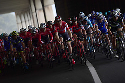 March 18, 2017 - San Remo, Italie - SANREMO, ITALY - MARCH 18 : SIEBERG Marcel (GER) Rider of Team Lotto - Soudal is leading the peloton during the UCI WorldTour 108th Milan - Sanremo cycling race with start in Milan and finish at the Via Roma in Sanremo on March 18, 2017 in Sanremo, Italy, 18/03/2017  (Credit Image: © Panoramic via ZUMA Press)