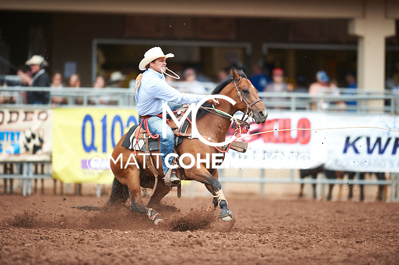 Tie-down roper Cody Jordan of Hobbs, NM competes at the Pikes Peak or Bust Rodeo in Colorado Springs, CO.<br /> <br /> <br /> UNEDITED LOW-RES PREVIEW<br /> <br /> <br /> File shown may be an unedited low resolution version used as a proof only. All prints are 100% guaranteed for quality. Sizes 8x10+ come with a version for personal social media. I am currently not selling downloads for commercial/brand use.