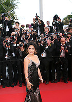 Salma Hayek at the gala screening Madagascar 3: Europe's Most Wanted at the 65th Cannes Film Festival. On Friday 18th May 2012 in Cannes Film Festival, France.