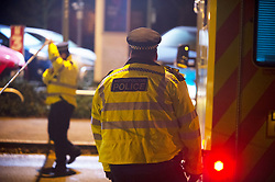 © Licensed to London News Pictures. 24/12/2018. Bromley, UK.Christmas eve stabbing in Bromley,South East London tonight, victim is said to be in a serious condition. Police cordons in place at the scene. Photo credit: Grant Falvey/LNP
