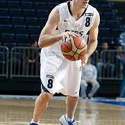 Efes Pilsen's Igor RAKOCEVIC during their Turkish Basketball league match Efes Pilsen between Bornova Belediyespor at the Sinan Erdem Arena in Istanbul Turkey on Saturday 16 April 2011. Photo by TURKPIX