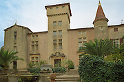 The chateau built in various styles, Domaine Saint Martin de la Garrigue, Montagnac, Coteaux du Languedoc, Languedoc-Roussillon, France