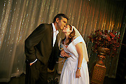 wax George Clooney and tourist bride.Madame Tussaud's Wax Museum.Las Vegas, Museum.BRIDE MODEL RELEASED