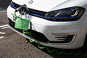 Elektrobay electric car charging point for a Zipcar hire car in London, England, United Kingdom. An electric car is an automobile that is propelled by one or more electric motors, using electrical energy stored in rechargeable batteries or another energy storage device. The resulting drop in harmful emissions makes eco cars an ecologically sound alternative to regular fuel cars.