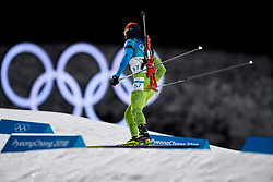 South Korea, PyeongChang - 2018 February 15: Jakov Fak from Slovenia competes in Biathlon Men's 20km Individual Final during The 2018 PyeongChang Olympic Winter Games at Alpensia Biathlon Centre on February 15, 2018 in PyeongChang, South Korea.<br /> <br /> Mandatory credit:<br /> Photo by © Adam Nurkiewicz<br /> <br /> Adam Nurkiewicz declares that he has no rights to the image of people at the photographs of his authorship.<br /> <br /> Picture also available in RAW (NEF) or TIFF format on special request.<br /> <br /> Any editorial, commercial or promotional use requires written permission from the author of image.