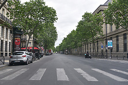 Boulevard Saint-Germain on the 43rd day of lockdown to prevent the spread of Covid-19. Paris, France on April 28, 2020. Photo by Vincent Gramain/ABACAPRESS.COM