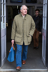 © Licensed to London News Pictures . 18/11/2014 . Kent , UK . UKIP supporter , NEIL HAMILTON , arrives in Rochester , ahead of the upcoming Rochester and Strood by-election . Photo credit : Joel Goodman/LNP