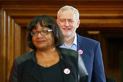 © Licensed to London News Pictures. 10/12/2016. London, UK. Labour leader and the leader of opposition JEREMY CORBYN and Shadow Health Secretary DIANE ABBOTT speak on human rights at the Methodist Central Hall in Westminster, London on Saturday, 10 December 2016. Photo credit: Tolga Akmen/LNP