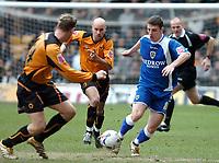 Photo: Ed Godden.<br />Wolverhampton Wanderers v Cardiff City. Coca Cola Championship. 11/03/2006. Jason Koumas (far right) surges forward for Cardiff.