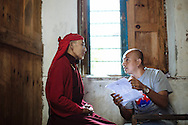 Volunteers with Himalayan Family Healthcare Project work at a medical camp in Thonche, Nepal.