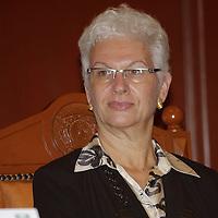 """Toluca, México.- Rodica Radian Gordon, embajadora de Israel en México, ofreció la conferencia magistral """"Una Perspectiva Económica y Política de Israel"""" en la UAEM. Agencia MVT / Arturo Hernández S."""