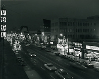 1966 Hollywood Blvd. at night during Christmastime