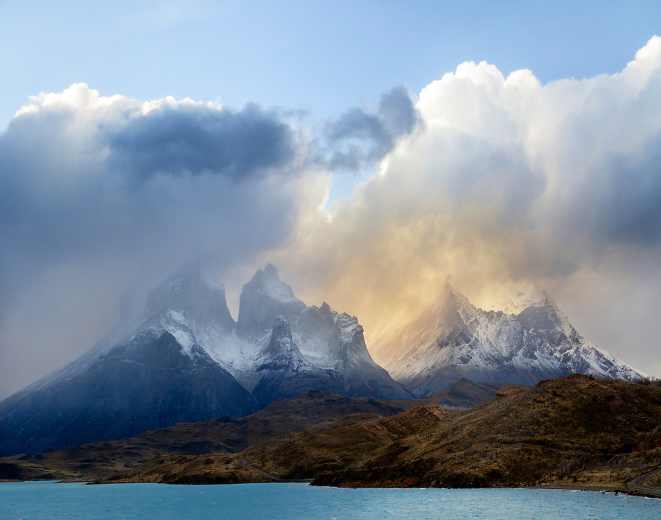 """Storm blowing through the granite peaks - Torres del Paine National Park, Chile<br /> <br /> 14"""" x 11""""<br /> <br /> See Pricing page for more information.<br /> <br /> Please contact me for custom sizes and print options including canvas wraps, metal prints, assorted paper options, etc. <br /> <br /> I enjoy working with buyers to help them with all their home and commercial wall art needs."""