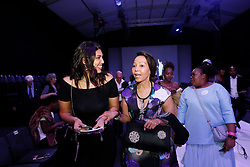 241018 Former Botswana President's Daughter Tahlia Khama and South African Business woman Bridgette Radebe and a sister to a mining magnet Patrice Motsepe attended the 2nd day of 21st SA Fashion week held in Sandton North of Johannesburg, this particular show shoaw cased BRICS.Photo Simphiwe Mbokazi/Africa News Agency/ANA