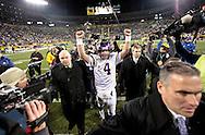 Minnesota Vikings' Brett Favre walks off the field after beating the Packers.The Green Bay Packers hosted the Minnesota Vikings at Lambeau Field Sunday November 1, 2009. Steve Apps-State Journal.