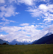 Landscape in Dart valley, Glenorchy, South Island, New Zealand