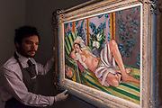 Odalisque couchee aux magnolias, 1923, by Henri Matisse, est on request but over $50m - Christie's unveil an exhibition of touring highlights from the Collection of Peggy and David Rockefeller, ahead of the New York sales (w/c 7 May).  they will be on public view in London from 21 February to 8 March.