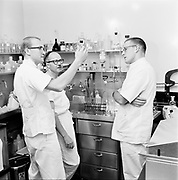"Y-620907B-10. ""Emanuel. Interns folder. X ray, rehab, lab, heart, exterior rehab, display in lobby. September 7, 1962"