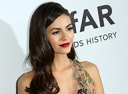 13 October 2017 - Beverly Hills, California - Victoria Justice. 2017 amfAR Gala Los Angeles held at Green Acres Estate in Beverly Hills. Photo Credit: AdMedia