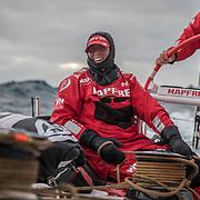 Leg 3, Cape Town to Melbourne, day 11, Tamara Echegoyen on board MAPFRE. Photo by Jen Edney/Volvo Ocean Race. 20 December, 2017.
