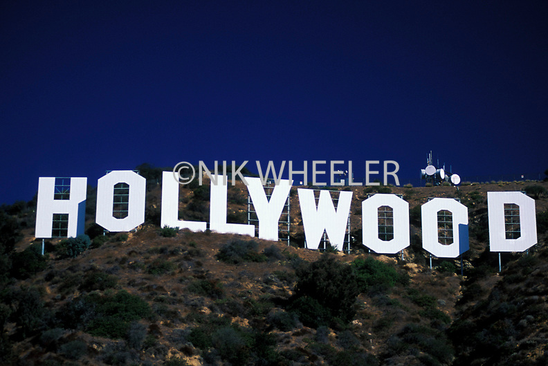 Hollywood Sign on Hollywood Hills Los Angeles California