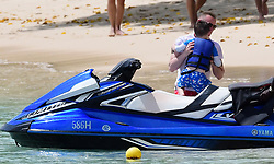 EXCLUSIVE: Wayne Rooney pictured on a jet ski while on holiday in Barbados. 20 May 2018 Pictured: Wayne Rooney. Photo credit: MEGA TheMegaAgency.com +1 888 505 6342